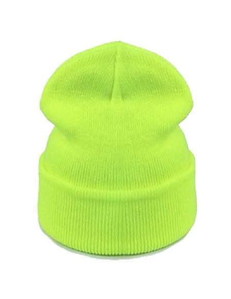 Bonnet jaune fluo