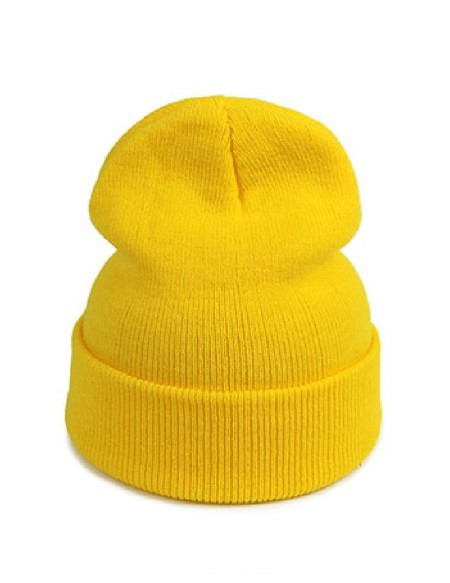 Bonnet jaune moutarde
