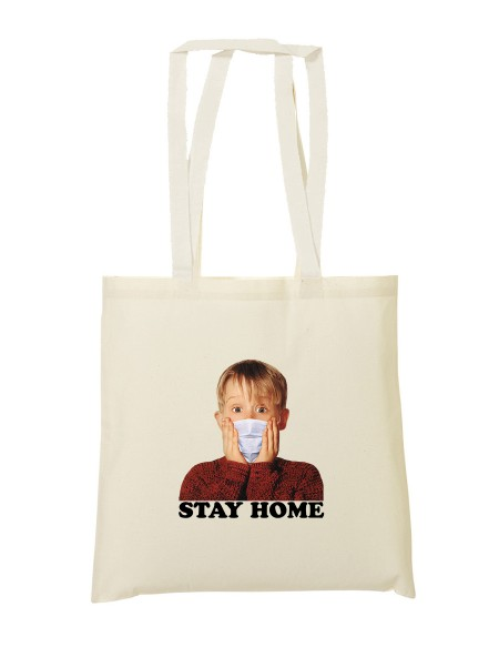Tote bag Stay home
